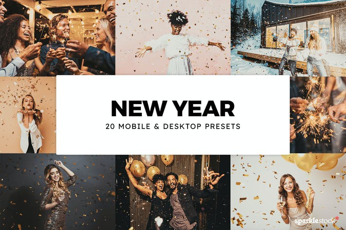 Thumbnail for 20 New Year Lightroom Presets & LUTs