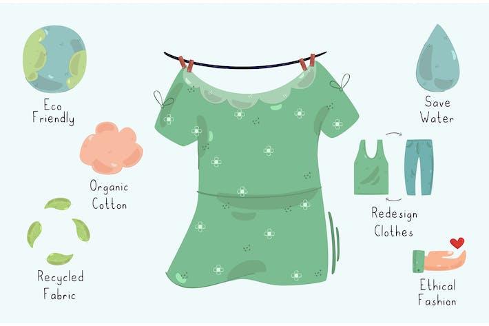 Sustainable Fashion Infographic Illustration (2)