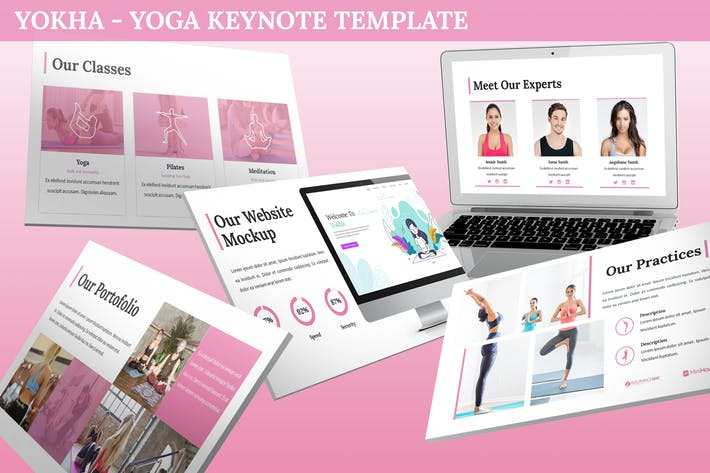 Thumbnail for Yokha - Yoga Keynote Template