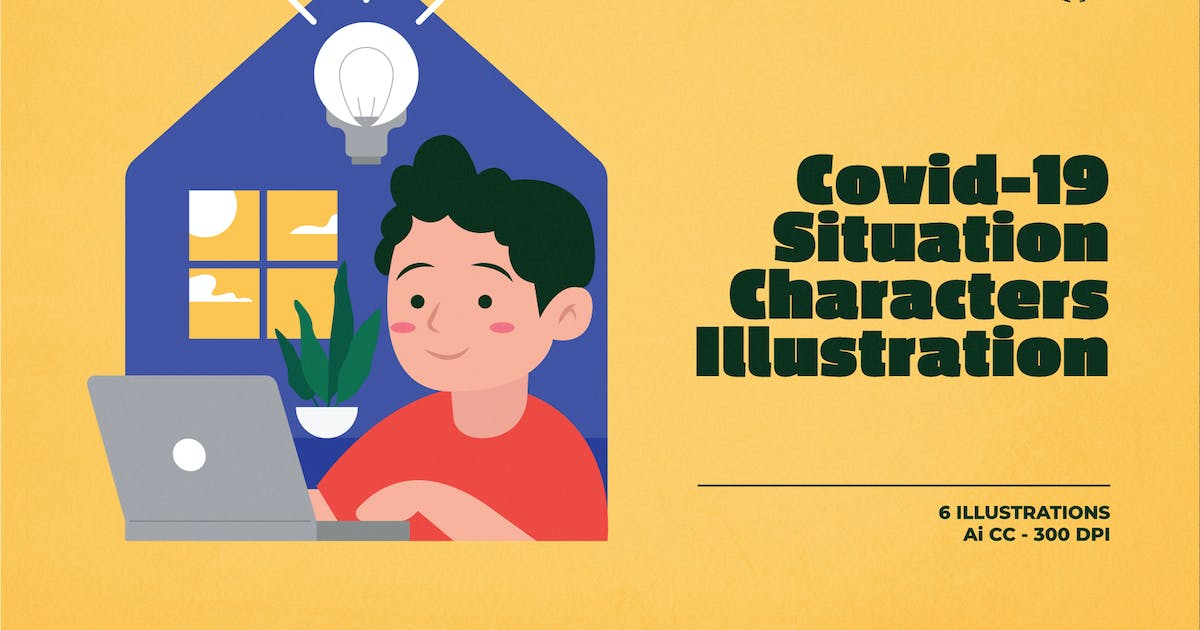 Download Covid-19 Situation Characters Illustration by dannyaldana