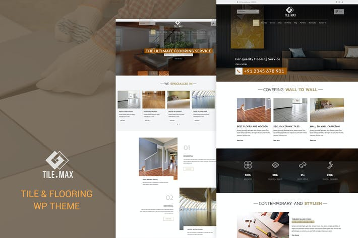 Thumbnail for Tile Max - Tile & Flooring WP Theme
