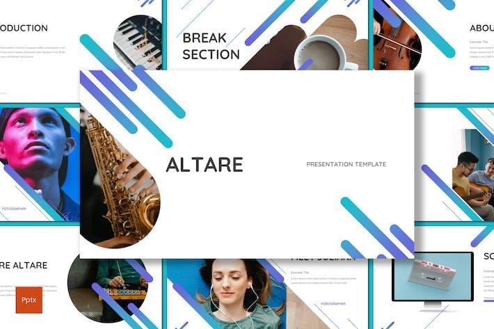 Thumbnail for Altare - музыкальный инструмент Powerpoint Шаблон