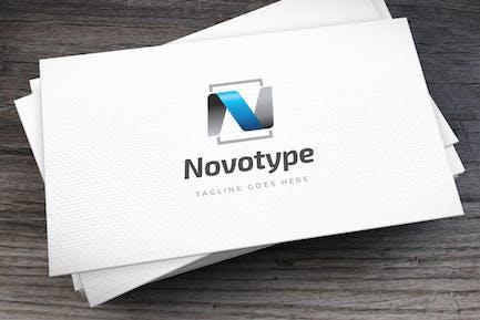 Novotype Letter N Logovorlage