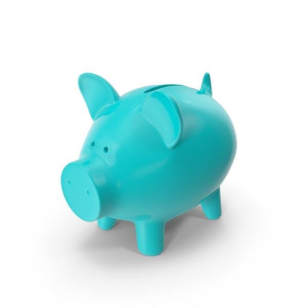 Cyan Piggy Bank