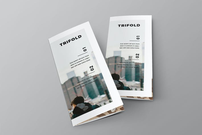Thumbnail for Cool Modern Style Trifold