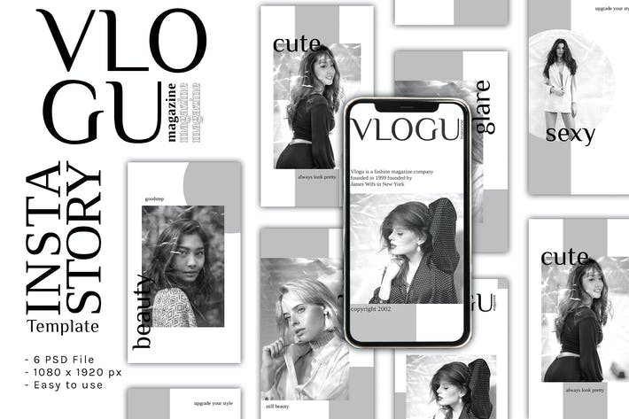 Thumbnail for Vlogu Magazine Instagram Story Template