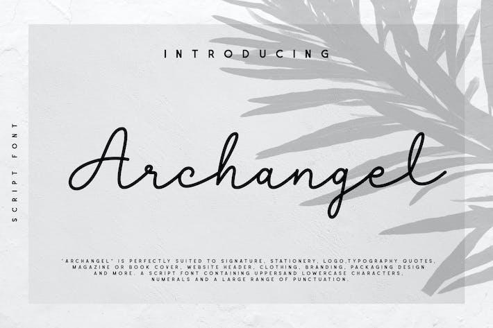 Thumbnail for Archangel Monoline Script Font