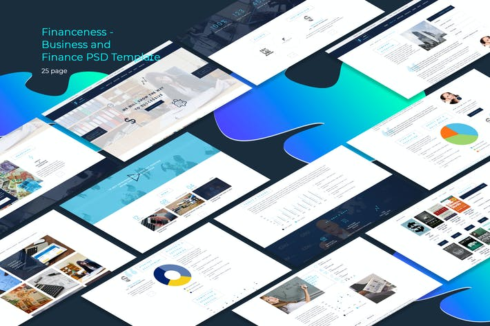 Thumbnail for Financeness - Business and Finance PSD Template