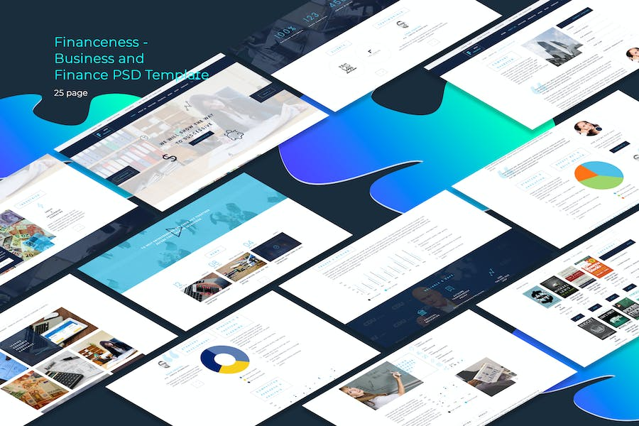Financeness - Business and Finance PSD Template