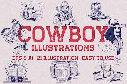 Vintage Cowboy Illustration