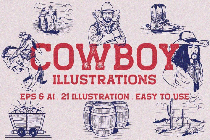 Thumbnail for Vintage Cowboy Illustration