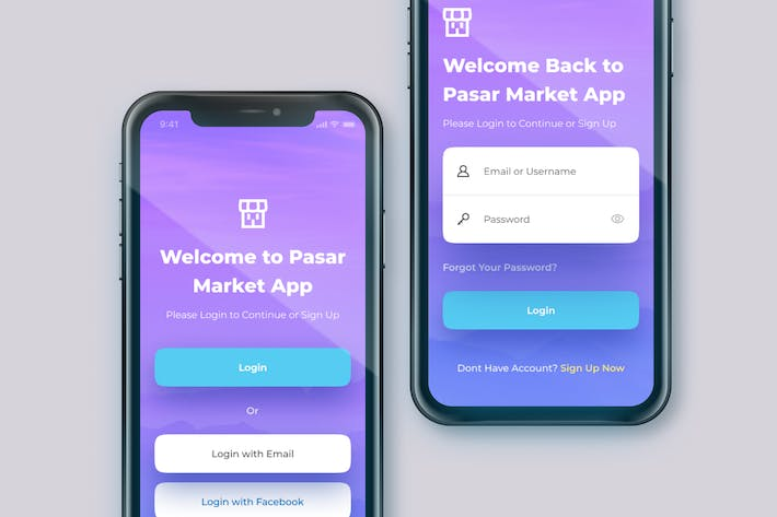 Thumbnail for Sign In or Sign Up Screen - Mobile App Template
