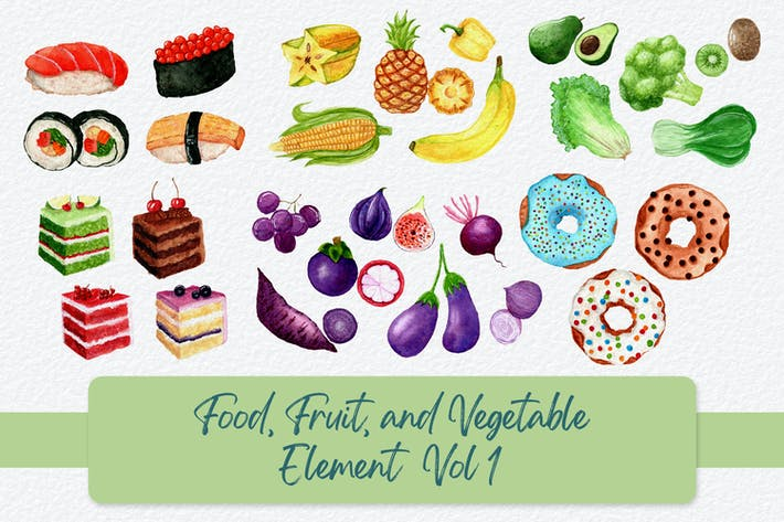 Food, Fruit, and Vegetable Elements Vol 1