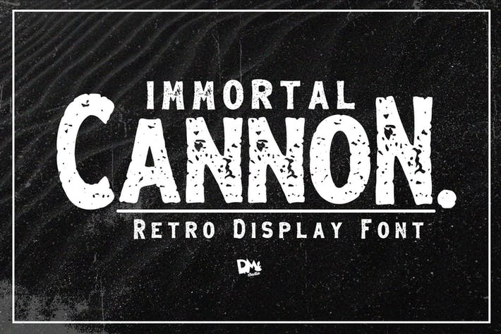 Immortal Cannon - Retro Display Font