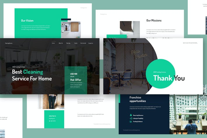 Thumbnail for Cleaning Service Keynote Template