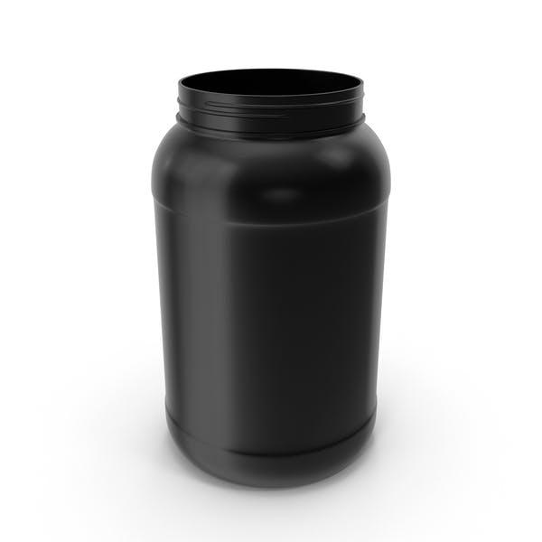 Botellas de Plástico Boca Ancha Galón Negro