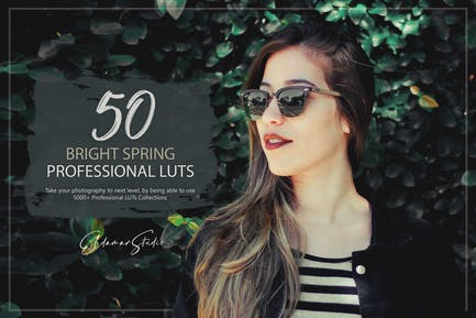 50 Bright Spring LUTs Pack