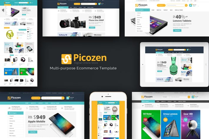 Thumbnail for Picozen - Responsive Magento 2 Theme