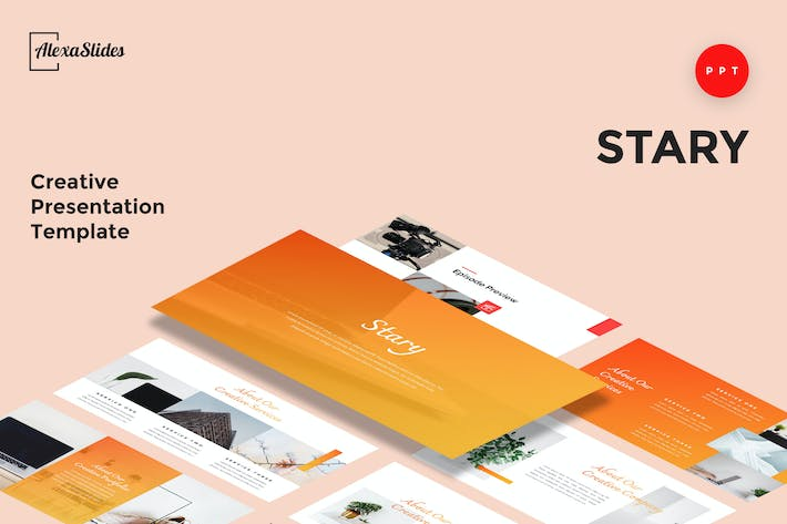 Thumbnail for Stary - Creative Powerpoint Presentation Template