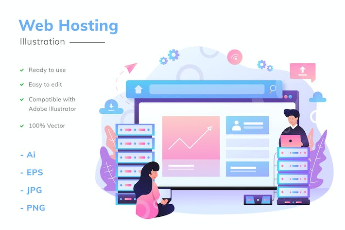 Thumbnail for Web Hosting Illustration
