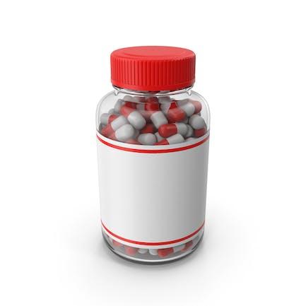 Botella de tableta de vidrio