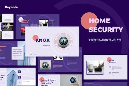 Home Security Presentation Keynote Templates