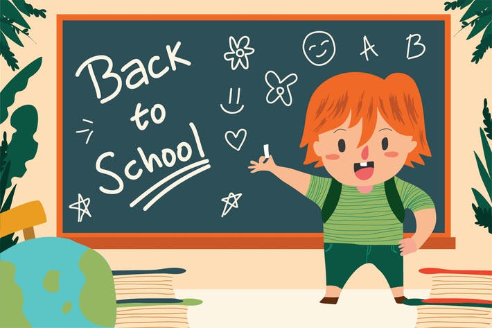 Thumbnail for Back To School - Vector Illustration