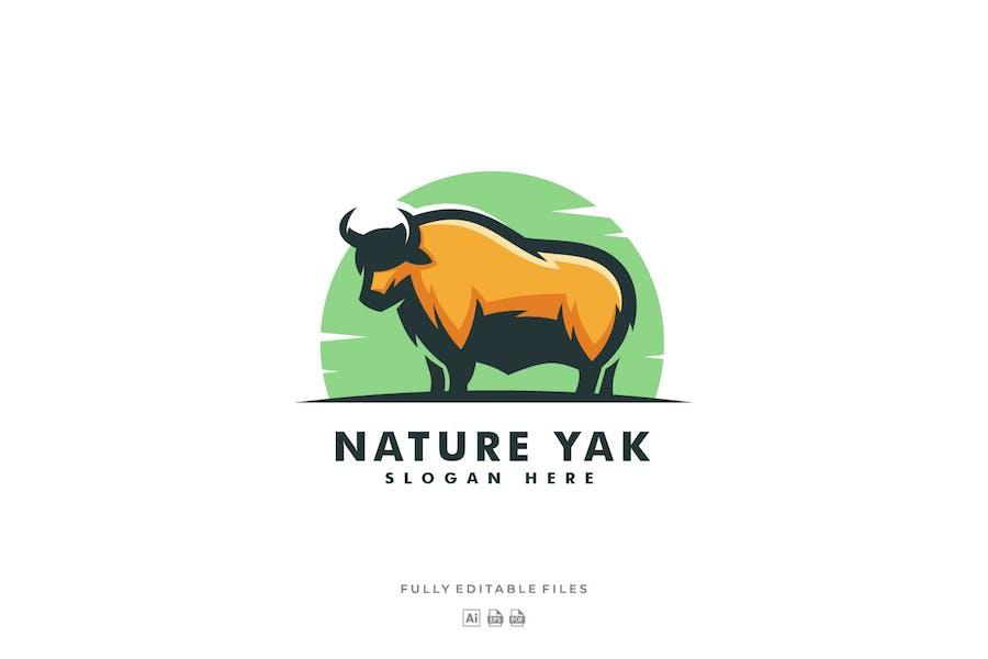 Yak Color Mascot Logo