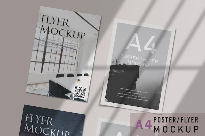 Thumbnail for A4 Flyer Mockups V.3