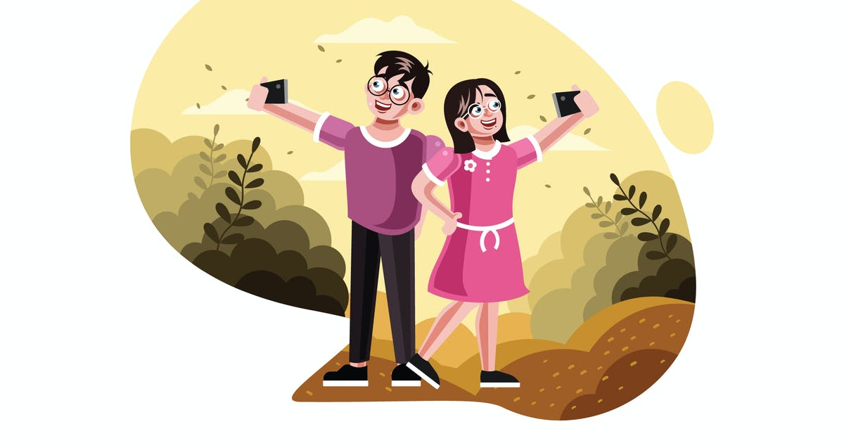 Download Brother and sister taking selfie picture by IanMikraz
