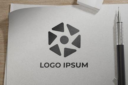 sketch paper logo mockup