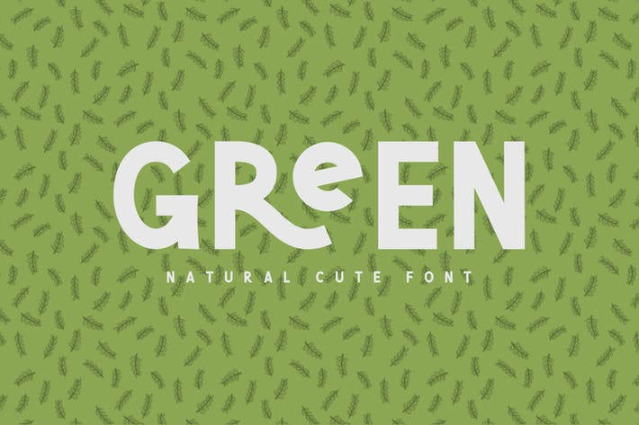 Thumbnail for Green | Natural Cute Font