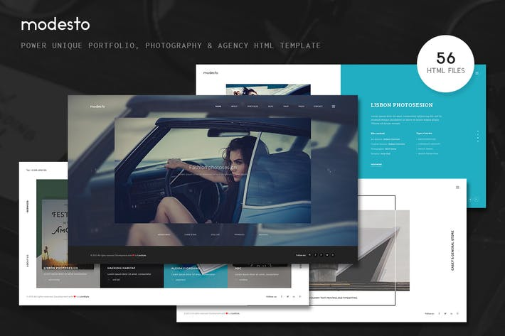 Thumbnail for Modesto - Portfolio, Photography Html Template