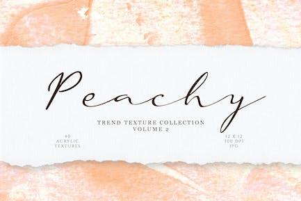 Pfirsich-Acryl-Textur Sammlung