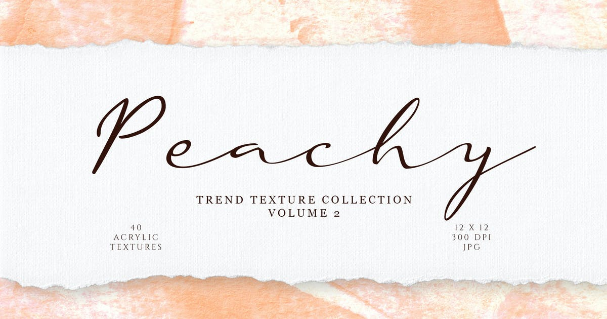 Download Peach Acrylic Texture Collection by firesparkstudio