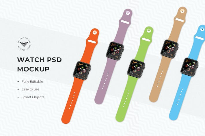 Thumbnail for Multi Color Smart Watch Mockups