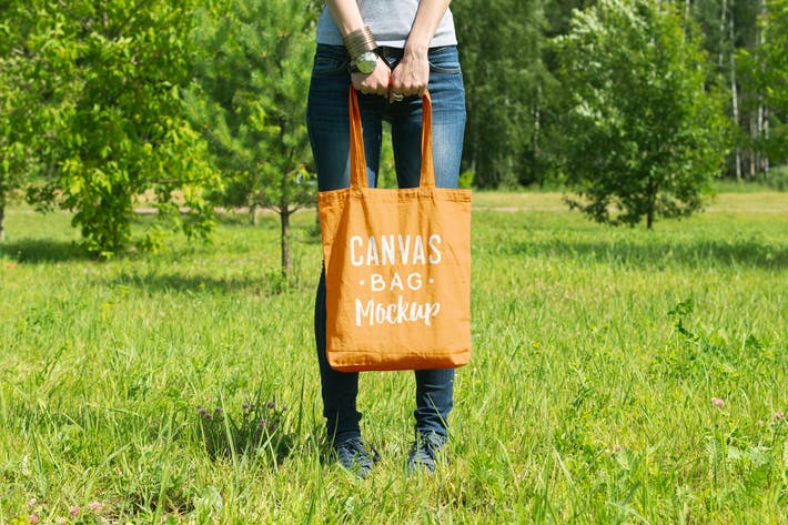 Cover Image For Canvas Bag Mockup