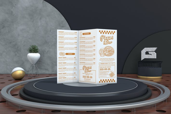 Thumbnail for Food Menu Trifold Brochure