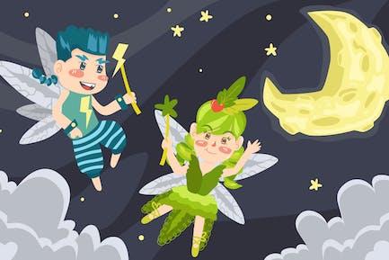Ilustración de Fairy Tail Niños