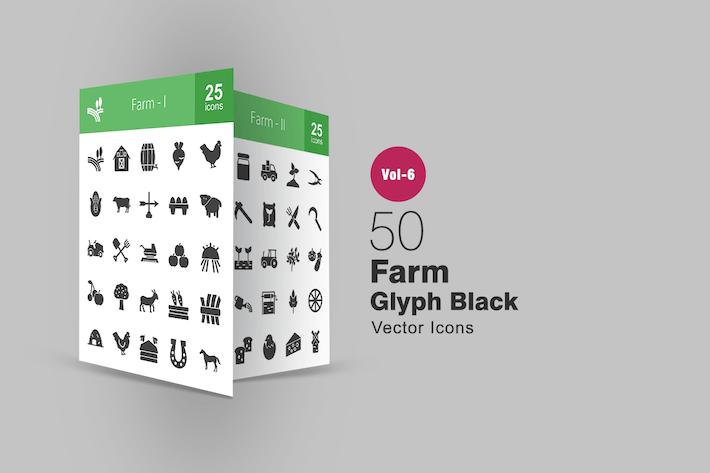 Thumbnail for 50 Farm Glyph Icons