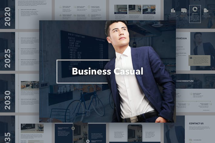 Cover Image For Business Casual Keynote Template