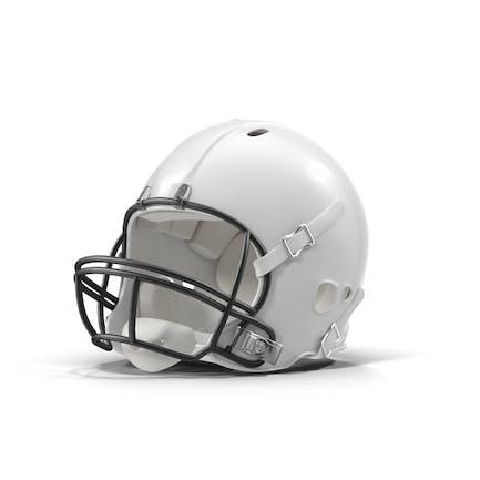 Weiß Fußball Helm