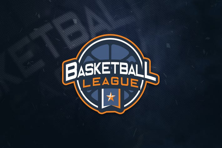 Thumbnail for Basketball League Sports Logo