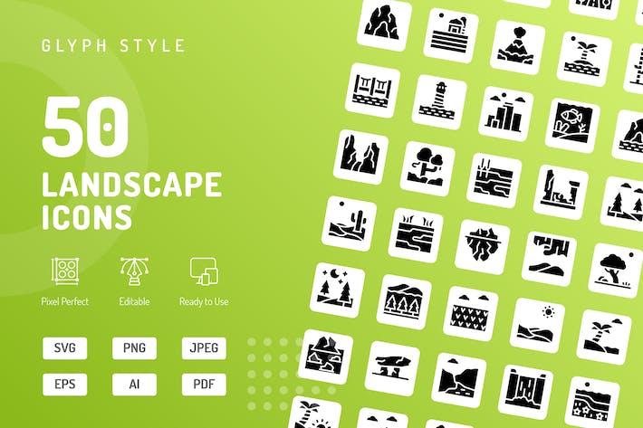 Landscape Glyph Icons