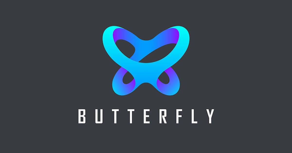 Logo Butterfly abstract creative design by Sentavio