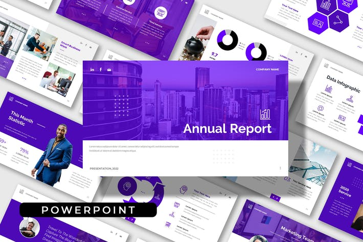 Annual Report - Company Business Powerpoint