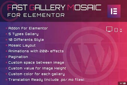 Rápido Gallery Mosaic for Elementor WordPress Plugin