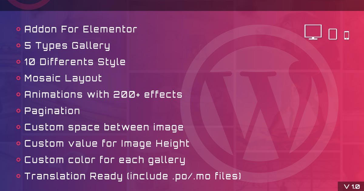 Download Fast Gallery Mosaic for Elementor WordPress Plugin by ad-theme