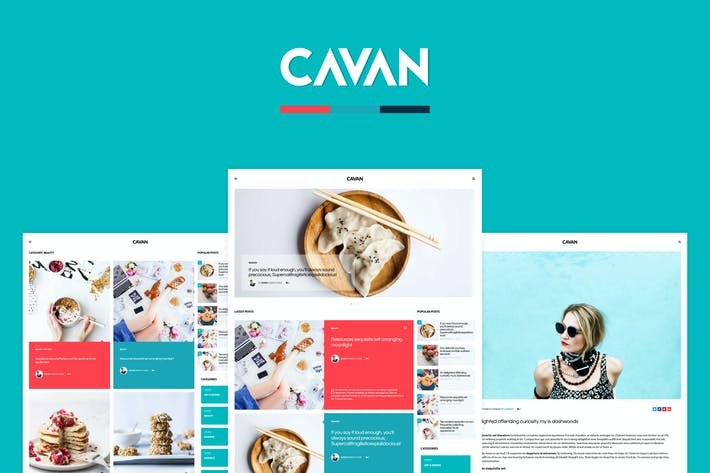 Thumbnail for CAVAN - A Distinctive WordPress Blog Theme