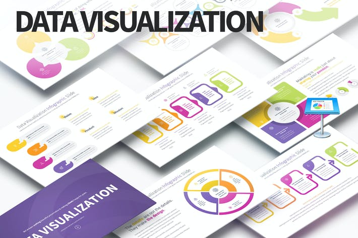 Визуализация данных - слайды Инфографика Keynote